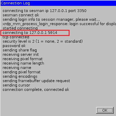 xRDP Session Logon Screen