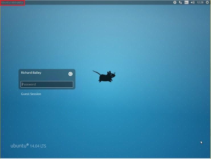 xRDP Logon Screen running on Ubuntu Unity