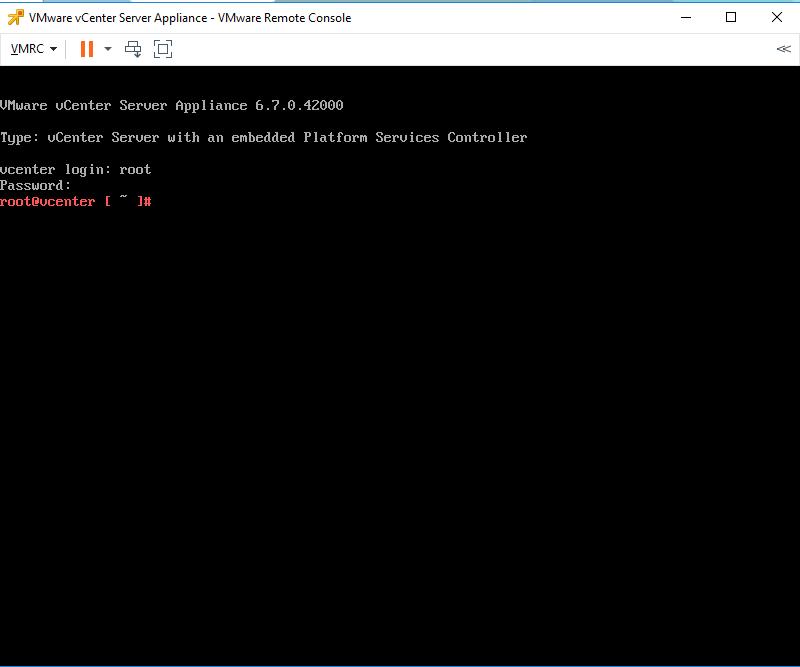 Vmware Appliance, VMWare appliance management –  unable to login