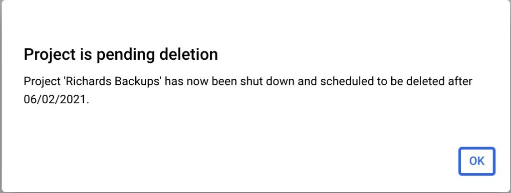 , How to delete a Google Cloud project that has a lien against it?